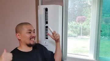 파세코 창문형 에어컨 설치했습니다