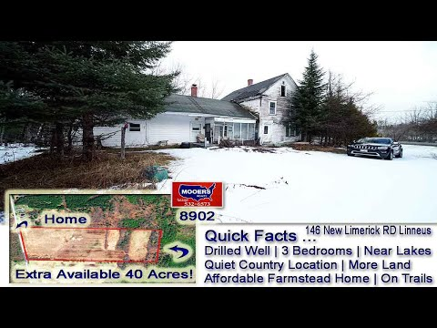 Cheap Farm House For Sale | 146 New Limerick RD #Linneus ME | Real Estate MOOERS REALTY 8902