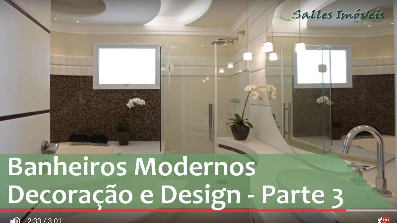Banheiros modernos decora o e design parte 3 youtube for Fotos de comedores pequenos