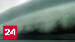 Из за циклона в Южно Сахалинске выпала месячная норма осадков   Россия 24