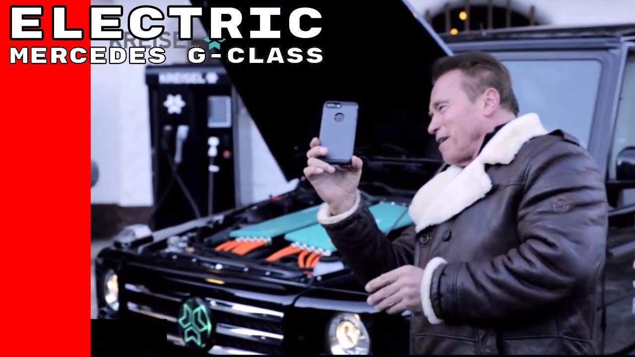 (ВИДЕО) - Електрически Mercedes G Class направен специално за Arnold Schwarzenegger!
