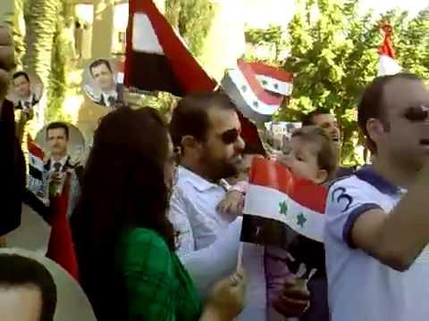 Pro Bashar al Assad Rally in Nicosia, Cyprus 30-10-2011