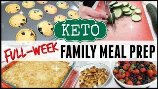 ????EASY KETO FAMILY MEAL PREP FOR THE WEEK ● WEEKLY COOK WITH ME MOTIVATION ● LOW CARB MEAL PREP