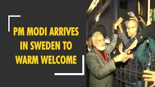 PM Modi arrives in Sweden to warm welcome, received by Swedish Prime Minister at airport