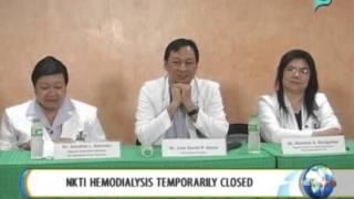 NewsLife: NKTI 'Hemodialysis' temporarily closed || June 4, 2014