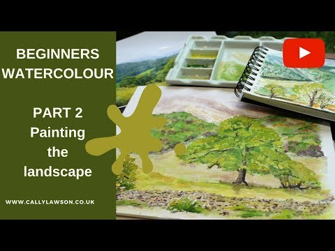 Watercolour landscape - working from reference photographs and sketchbook - PART 2