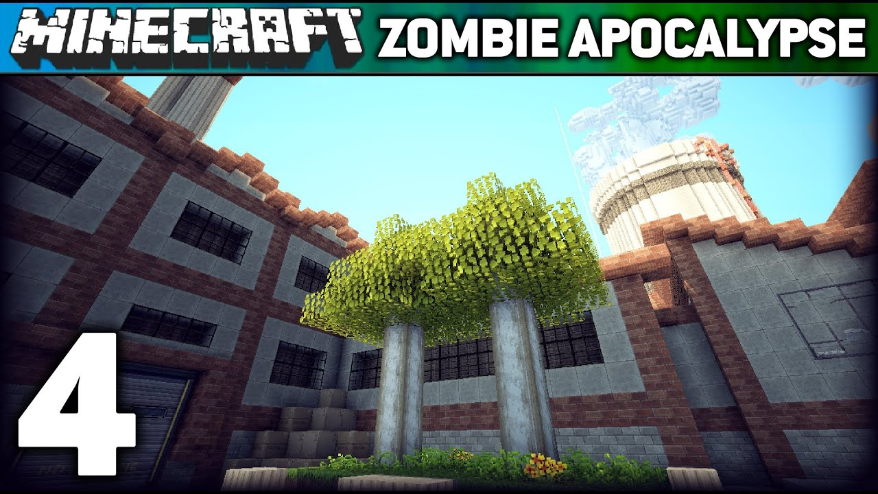 ZOMBIE APOCALYPSE #4 (Minecraft Adventure Map) - YouTube