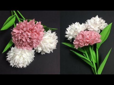 How to Make Tissue Flower | Making Paper Flowers Step by Step | DIY-Paper Crafts