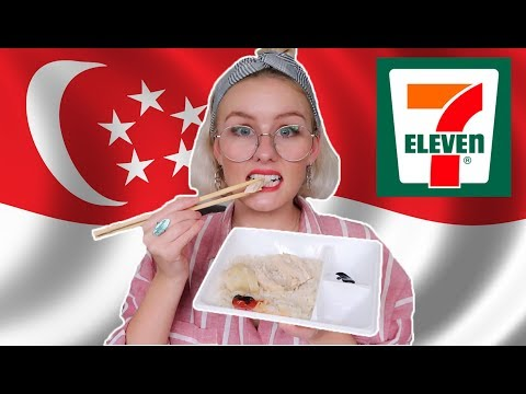 TRYING SINGAPORE 7/11 MICROWAVE FOOD!