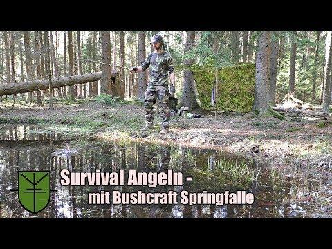 Survival Angeln - mit einfacher Bushcraft Springfalle