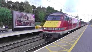 Trains on the ECML at St Neots and Stevenage 07/09/17