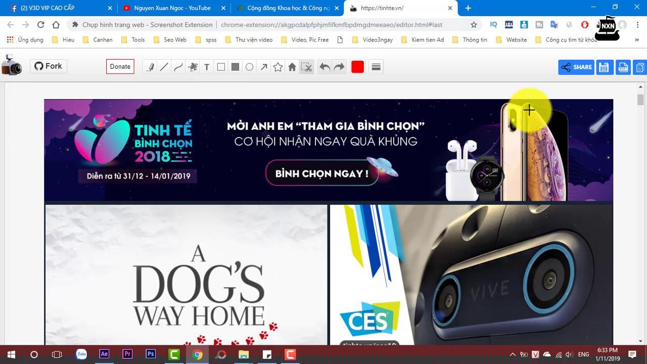 Cách chụp toàn bộ trang web với 1 cú nhấp chuột