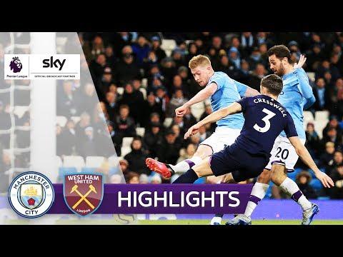ManCity Siegt Im Nachholspiel | Manchester City - West Ham United 2:0 | Highlights - Premier League