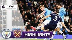 ManCity siegt im Nachholspiel   Manchester City - West Ham United 2:0   Highlights - Premier League