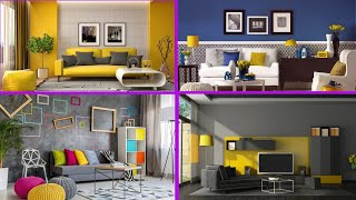 150 Living room colour combination and wall painting design ideas