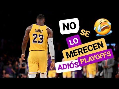 FRACASO LAKERS 😭 | Adiós Playoffs | LeBron James desganado | Luke Walton 👎 | NBA Lakers vs Suns