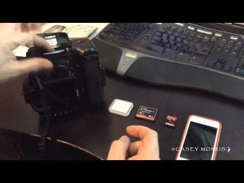 Eye-Fi, Canon 7D and Compact Flash to SD Adapter