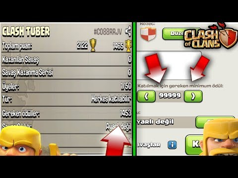 KUPA AYARLAMA HİLESİ !!! (9999 kupa) | Clash Of Clans