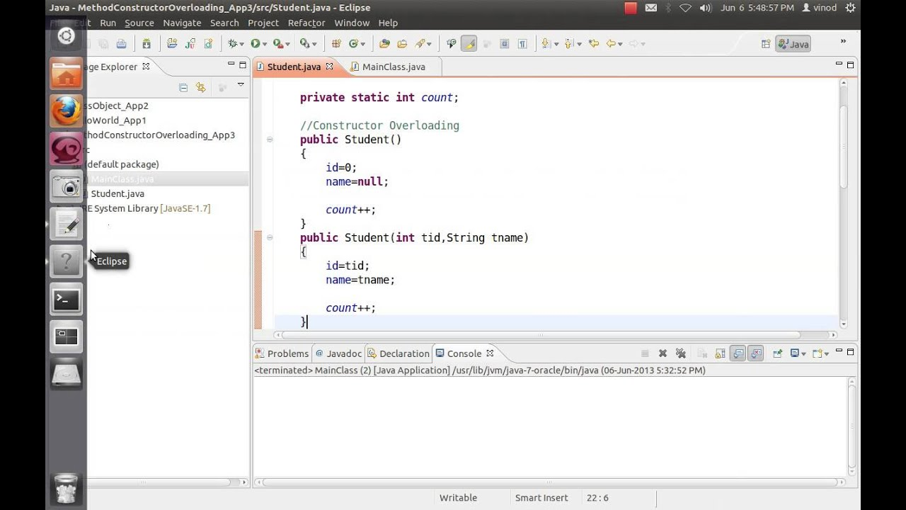 Java constructor method and static variable tutorial 3 youtube java constructor method and static variable tutorial 3 baditri Image collections