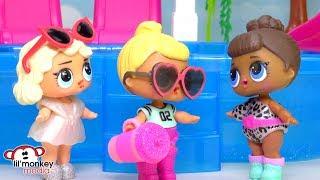 ☀️LOL Surprise Dolls Pool Party Playdate!!