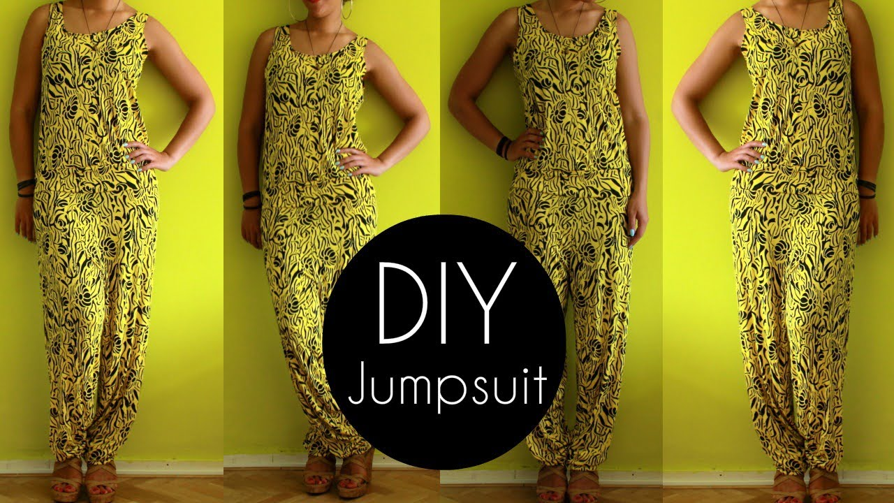 Easy Diy Jumpsuit Tutorial In 30min Diy Clothes Youtube