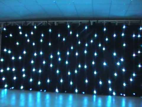 Dise o starsky telones de fondo de tela para dj efectos for Cortinas negras decoracion