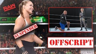 THE REAL REASON BEHIND RONDA ROUSEY'S WWE SUSPENSION (WWE RAW)