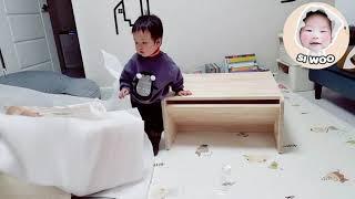 안지가구 유아책상세트 + 유아독서대