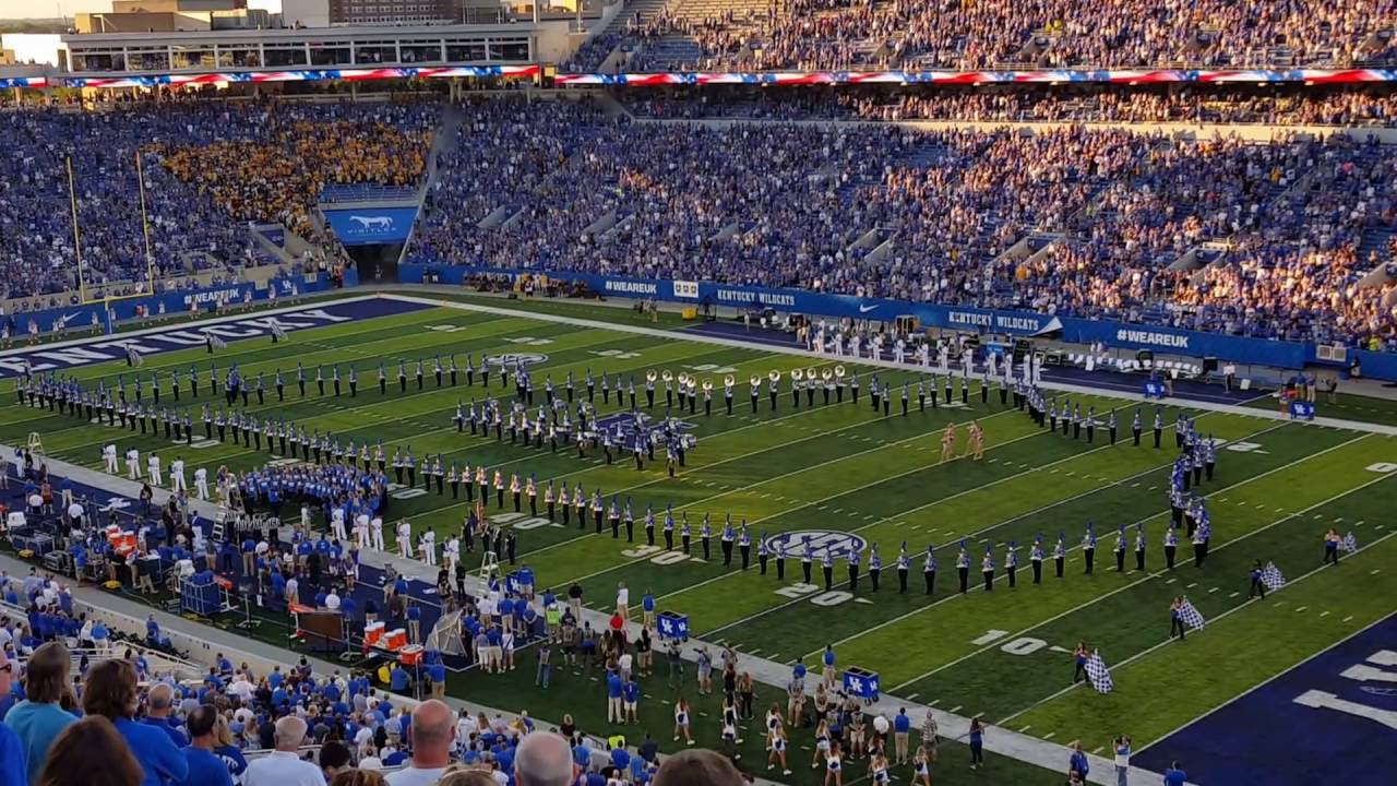 University Of Kentucky: 2016 University Of Kentucky Wildcat Marching Band Pregame