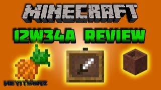 ► Minecraft Snapshot 12w34a | Item Frames, Carrots & Pots + MORE | In Depth!