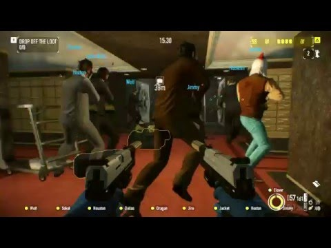 Payday 2 - 14 player heist with bots (Big Lobby mod)