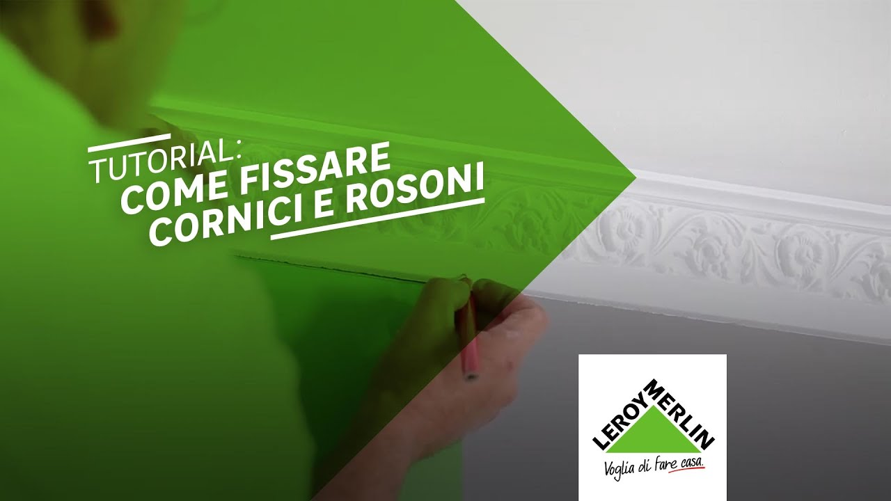 Come mettere cornici e rosoni in squadra tutorial leroy for Cornici decorative polistirolo