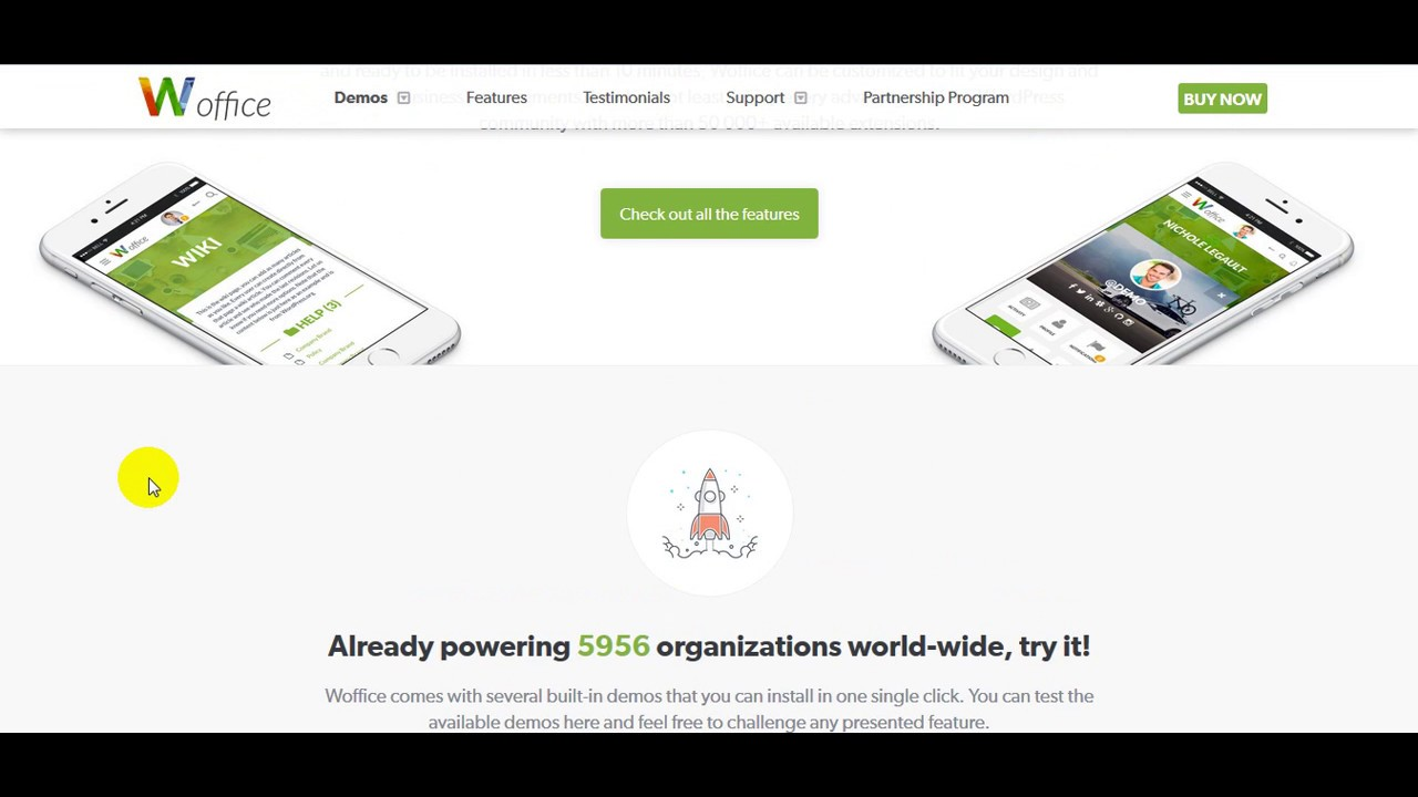 Woffice Intranet Extranet WordPress Theme - YouTube