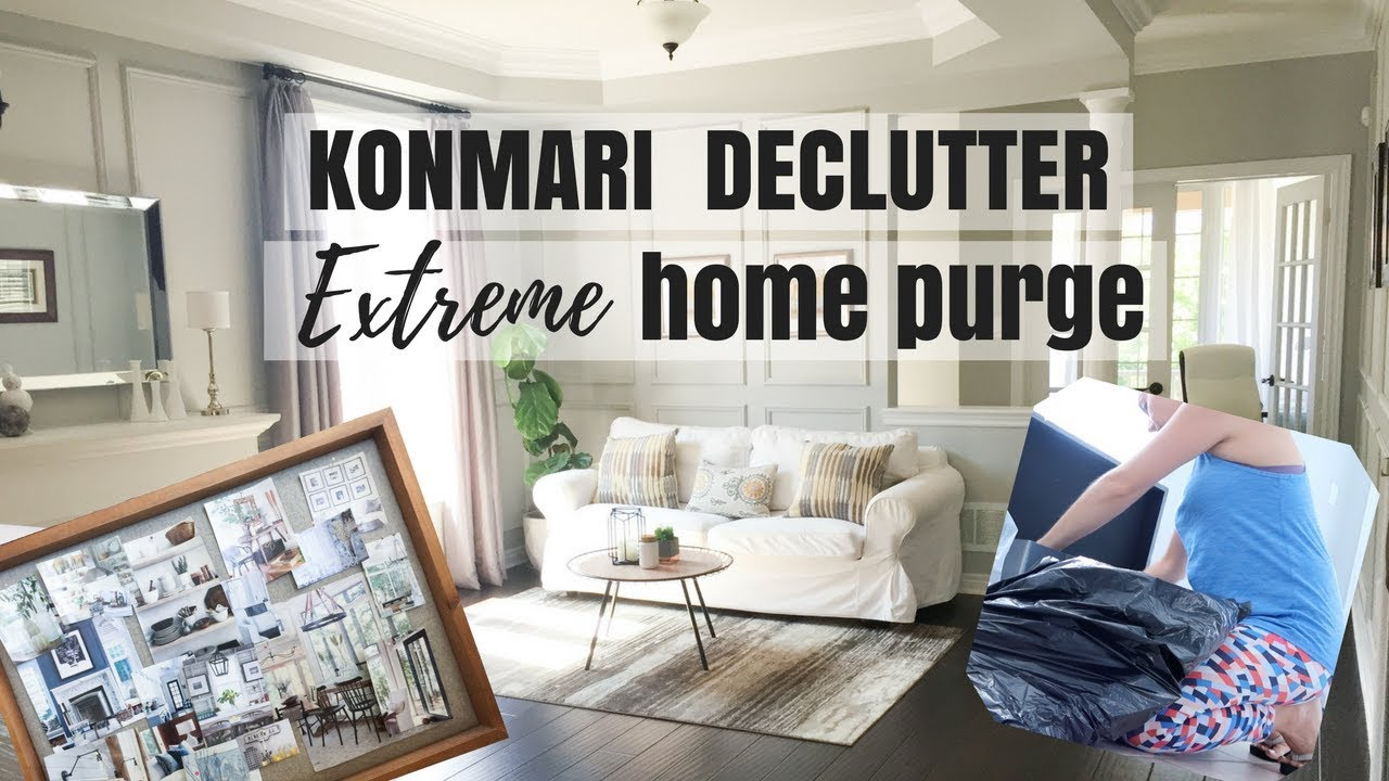 Konmari Method Extreme Home Declutter Kondo Before And After Clean