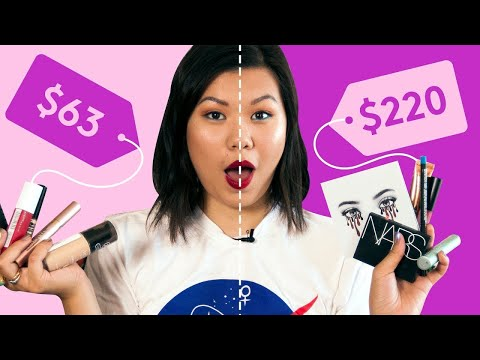High End Vs Drugstore Makeup Tested | Beauty With Mi | Refinery29