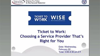 WISE Webinar 2017-02: Choosing a Service Provider That's Right for You