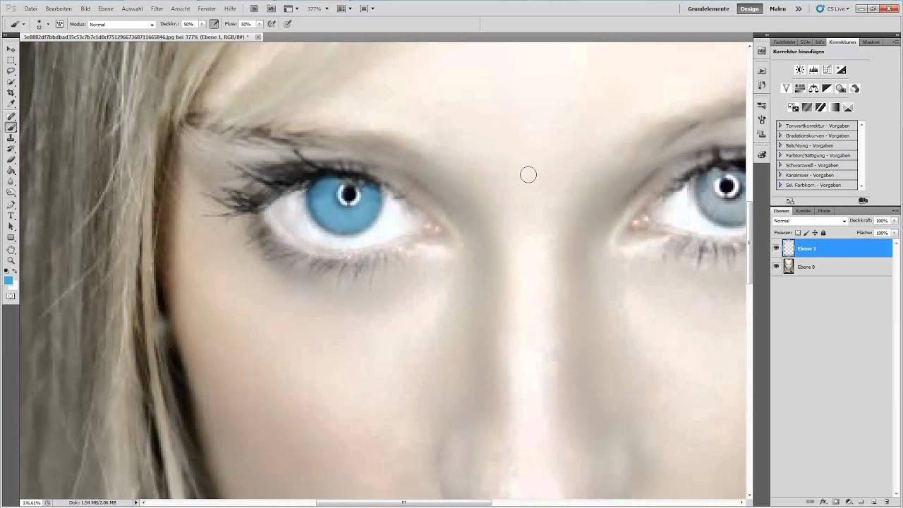 Quick Tipp Augen Aufhellen In Photoshop Youtube