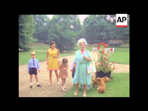 QUEEN MOTHER'S 70th BIRTHDAY - LONG VERSION - COLOUR - NO SOUND