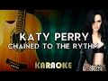 Katy Perry Chained To The Rhythm LOWER Key Acoustic Guitar Karaoke Instrumental Ft Skip Marley mp3