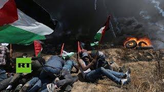 Más de 40 muertos en Gaza durante protestas en la frontera con Israel (FUERTES IMÁGENES)