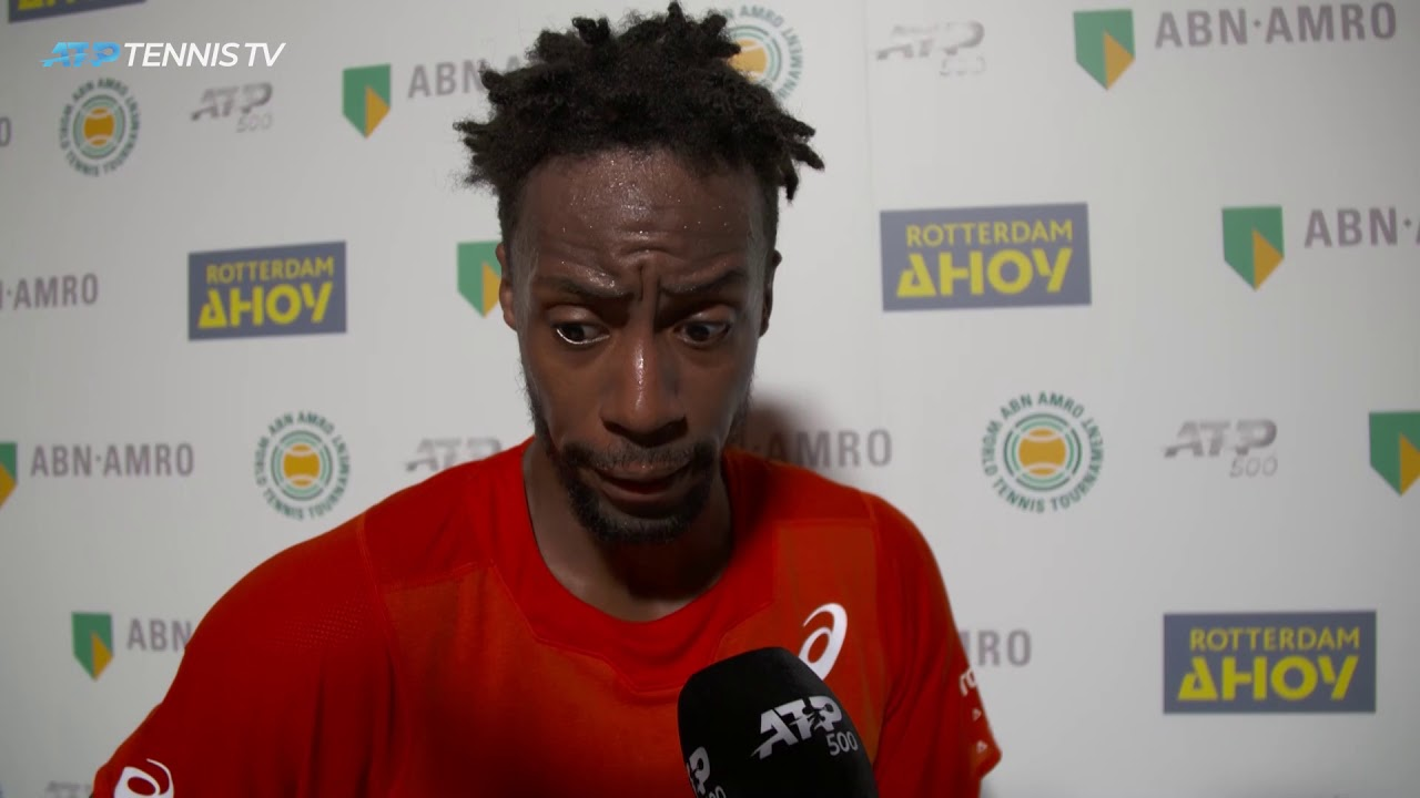 Monfils Talks About Battling Past Goffin In Rotterdam 2019