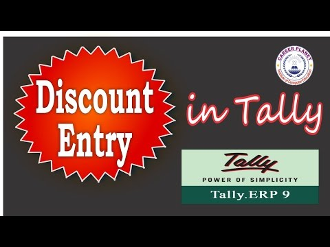 Discount Entries in Tally ERP 9 Hindi Day-8 Cash or Trade Discount Learn Tally ERP 9