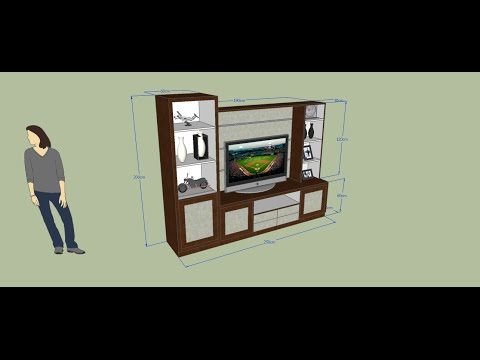 Sketchup tutorial : Membuat Rak TV