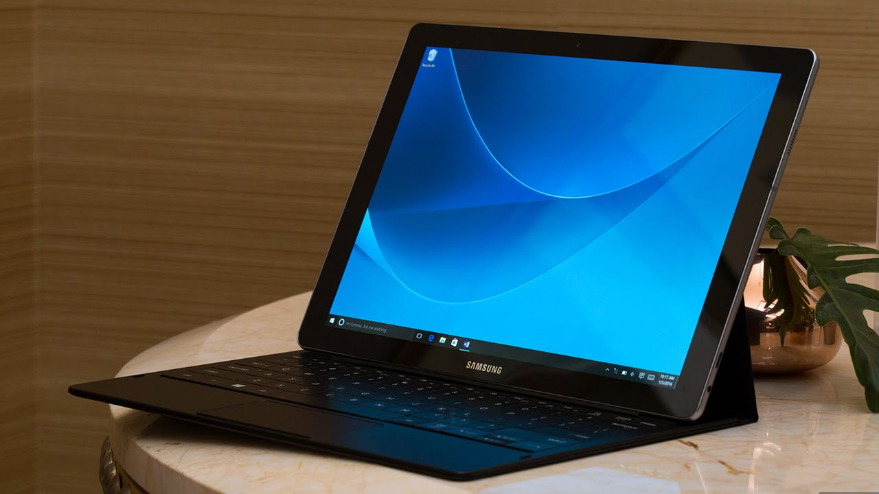 The first Samsung Galaxy Tab running Windows 10 — CES 2016