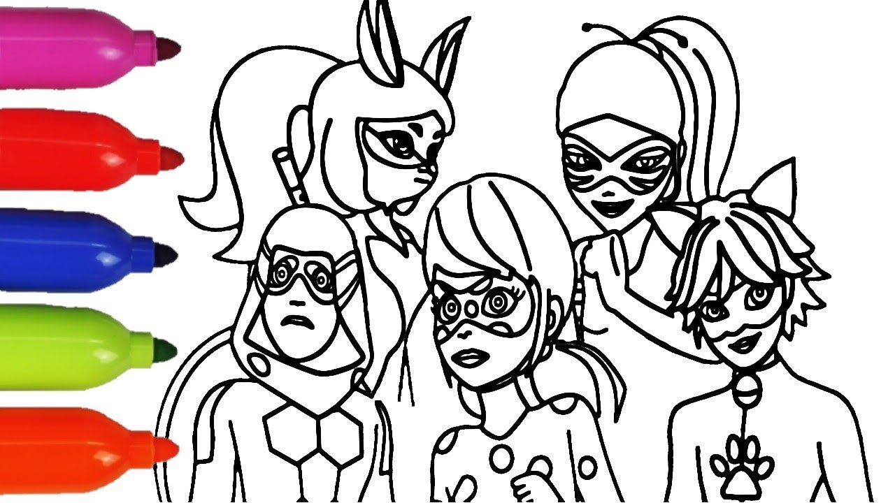 5100 Coloring Pages Miraculous Ladybug Download Free Images