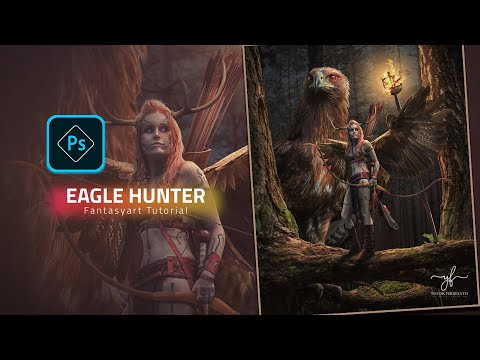 Eagle Hunter Photoshop Fantasy Art Tutorial thumbnail