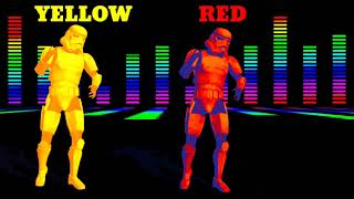 Star war colors dancing for kids learning, How to learn colors with star war for children