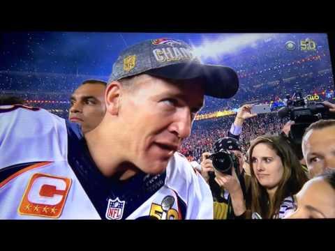 Peyton Manning Post-Game Super Bowl 50 Interview