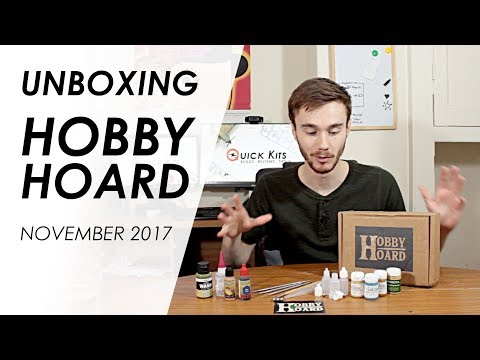 Loot Crate for Miniature Modellers? Unboxing Hobby Hoard Nov 2017