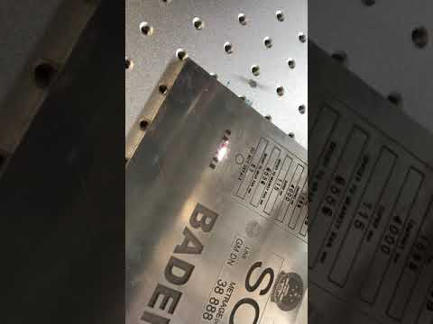Fiber marking TEXT  on Primary aluminum